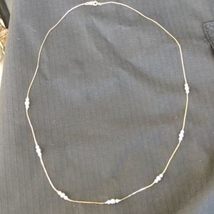 Vintage Avon Gold and Pearl Chain